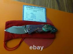 Collectible Custom Jewel Thai Art Folder Knife- One Of A Kind, Avec Coa