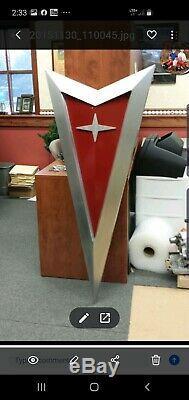 Concessionnaire Pontiac Arrowhead Sign One Of A Kind