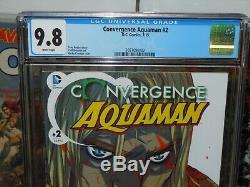 Convergence Aquaman # 2 Cgc 9.8 Première Khalid Nassour 7/2015 One-of-a-kind (1/1)