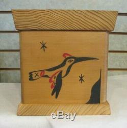 Côte Nord-ouest Du Pacifique Amérindien Tribal Bentwood Cedar Boxone Of A Kind
