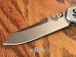Couteau À Manche En Aluminium Lame Benchmade 940 S30v Custom! Unique En Son Genre