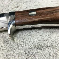 Couteau À Poignée En Bois Foncé Herron Handmade Custom (1043) 8 Pouces De Longueur Unique En Son Genre