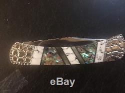 Couteau Buck Personnalisé 110 Poney Peint Michael Prater Unique