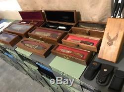 Couteau De Collection Harley-davidson Vintage, Lot De Buck Gerber Rare, Ensemble Unique