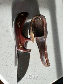 Couteau John Schulps Custom Skating / Skinner, Unique En Son Genre, Fabriqué À La Main, Signé