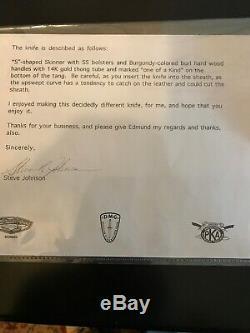 Couteau-gaine-lettre Personnalisé Par Skinner De S. R. Johnson - Un Partenaire Unique En Son Genre