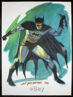 DC Comics Batman Original Art Steve Rude Aquarelle Commission One Of A Kind