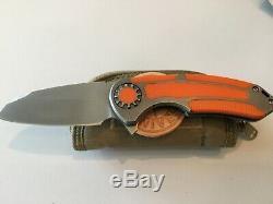 David Curtiss Personnalisés Couteaux Moyen F3 Un D'un Dossier Couteaux Type Flipper