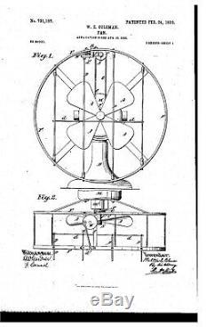 Déflecteur Coleman Extrêmement Rare Sur Les Ventilateurs Robbins Et Meyers Antiques