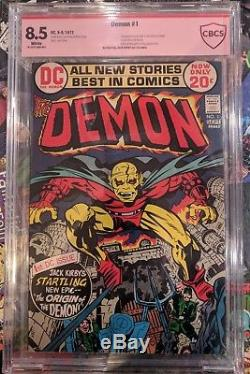 Demon # 1 Cbcs 8.5 Verifié Signé Par Jack Kirby Red Label Rare Une Touche D'une Genre Genre