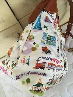 Disney Dooney & Bourke One Of A Kind Ooak Paris Dooney Nylon Hobo
