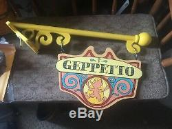 Disney Store Display Prop - Pinocchio - Geppetto - Signe D'atelier Unique