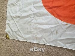 Drapeau Avec L'original De La Soie Japonaise Ww2 Une Pin-up Rare D'une Sorte 36 X 25