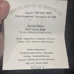 Édition Spéciale Couteau William Henry #39/50 Un D'un Genre