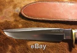 Effingham Blackjack Knives Stag # 1-7 Couteau Hunter Classique Un Seul Type De Mib