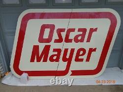 Énorme Oscar Mayer Vintage Porcelaine Signe Un D'un Genre