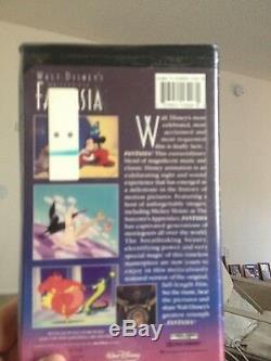 Fantasia Vhs, Avec Gold Leaf Misprint De Disney! L'un D'une Sorte, Scellé En Usine