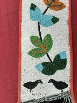 Fantastique Unique En Son Genre Plains Ojibwe Bandolier Bag 1906
