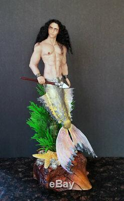 Fée Mâle Sirène Fantastique Merman Une D'une Figurine Type D'argile Polymère