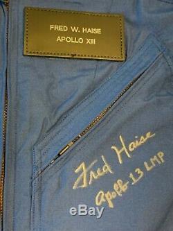 Fred Haise Signé Apollo 13 Rare D'un Costume Type Vol Navette Spatiale De La Nasa