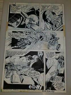 Ghost Rider #4 Page 31 Original Art Bronze Age Horror Jim Mooney One Of A Kind