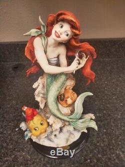Giuseppe Armani Disney Ariel Avec Coa Preuve Artiste 0505c Un Très Rare De Nature Que Ce Soit
