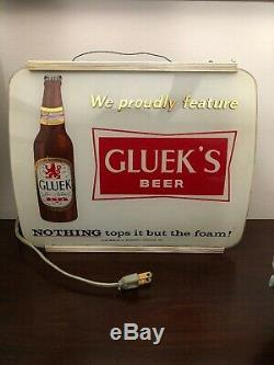 Glueks Light Bar Vintage. Super Rare Point One Of A Kind. Duluth Mn 1956. Travaux