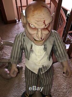 Hallowewn Zombie Bébé Spriit Halloween Rare Htf Un D'un Couteau Type Gemmy Morbid