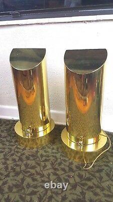 Hart Associates Paire De Lampes De Table En Laiton Custom One-of-a-kind MID Century Modern