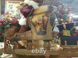 Heavenly Sleigh-custom One Of A Kind Santa On Sleigh-collectible