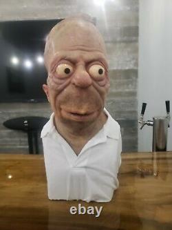 Homer Simpson Silicone Life Size Bust 11 Custom Not Sideshow Un D'un Genre