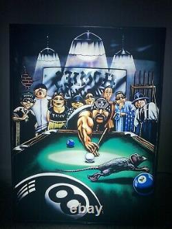 Homies Pool Hall Lampe Murale Vintage Utilisé Un D'un Genre Incroyablement Rare