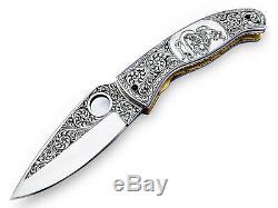 Ib 2 Main Personnalisée Made D2 One Of Special Kind Gravé Couteau Pliant