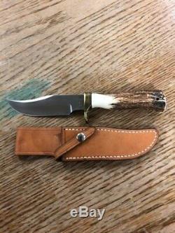 Jimmy Lile Custom Stag Knife (unique En Son Genre) 5.5 Lame Parfait Etat