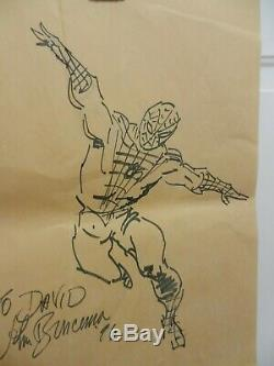 John Buscema De Spider-man Original Sketch Art Par Marvel, Signé, One Of A Kind