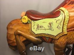 Jon Olson Sculpture À La Main Unique D'une Abeille De Carrousel Grande Taille (cheval)