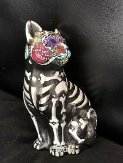 Jour De La Mort Chat Kitty Figurine Statue Sugar Skull 2019 Unique En Son Genre