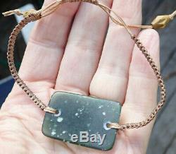 Kurtis Bell Unique Bracelet De Pounamu Tangiwai Greenstone Nz Translucide Rare Nz