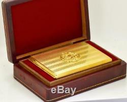 L'un D'un Or Type Présentation 14k & Diamant Étui À Cigarettes Pour Shah Pahlavi. 196g