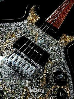 L'un D'une Guitare O'donnell Swarovski Type Collectables Personnalisé Électrique The Swan