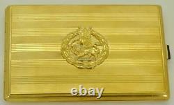 L'un Des Gros Or 14k Et Diamants Étui À Cigarettes D'une Présentation Type. Oriental