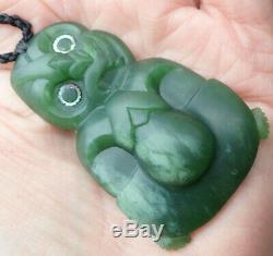 L'une Des Kind Niki Nepia Gem Nz Pounamu Greenstone Jade Néphrite Tiki Maori Hei