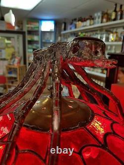 Lampe De Style Tiffany 16x24. Fait À La Main Par L'artiste Local. Un Thème Du Genre Spider