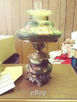 Lampe Électrique Victorienne Antique Peinte À La Main, Travail De Porcelaine, Lampe, Type