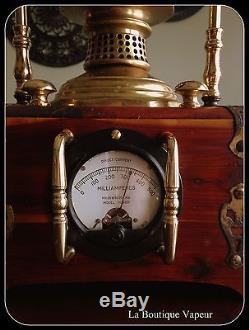 Lampe Steampunk Edison Sci Fi En Bois Et Laiton Faite À La Main