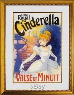 Le Bal Royal Cinderella Original Peinture Pour Disney Affiche Un Des Types