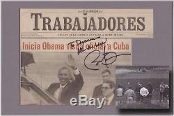 Le Journal Cubain Signé Par Barack Obama Est Unique