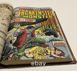 Le Monster De Frankenstein #1-18 Bound Volume Tout Signé Par Ploog Un-of-a-genre