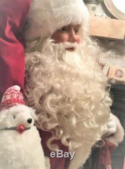 Life Père Noël Unique En Son Genre Dans Le Costume Traditionnel De Karen Vander Logt