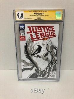 Ligue Justice 1 Tony Daniels Omg Un Croquis D'un Coup Mortel Unique En Son Genre Cgc 9.8